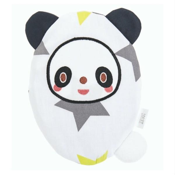 ZEWI bébé-jou Traubenkernkissen Panda-lime Stars