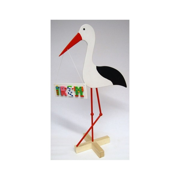 HAPPY CLOWN Storch klein 90x56cm