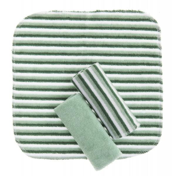 ZEWI bébé-jou Waschtücher 3 Stk.-grün