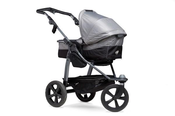 TFK Mono-Kombi Kinderwagen mit Luftkammerräder grau