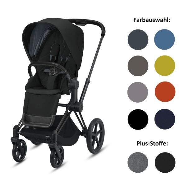 CYBEX Priam Set-Angebot Kinderwagen Rahmen in Matt Black inklusive Sportsitz