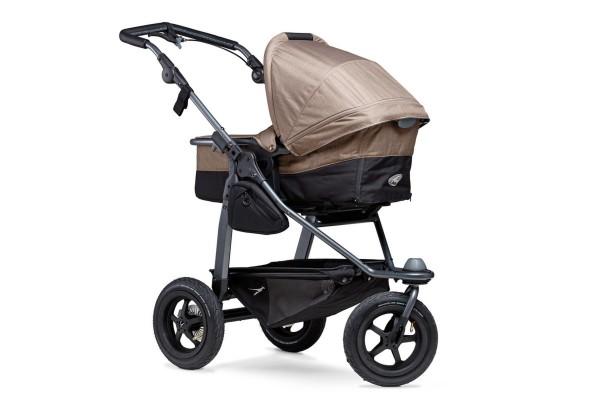 TFK Mono-Kombi Kinderwagen mit Luftrad-Set Braun