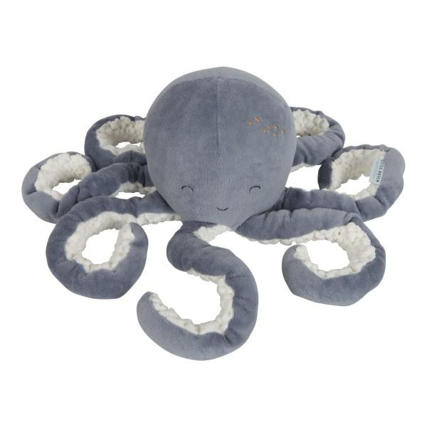 LITTLE DUTCH Kuschel Oktopus - Ocean blue
