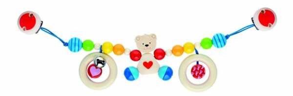 HEIMESS Kinderwagenkette Herzbär mit Clips