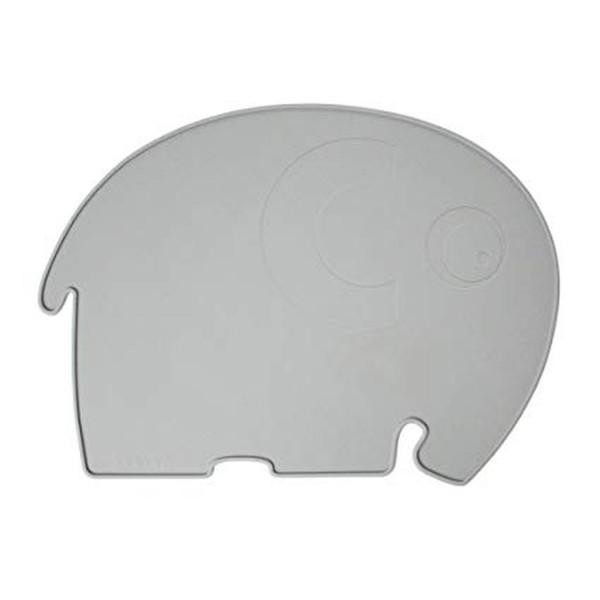 SEBRA Silikon Platzdeckchen/Tischset Elefant, grau