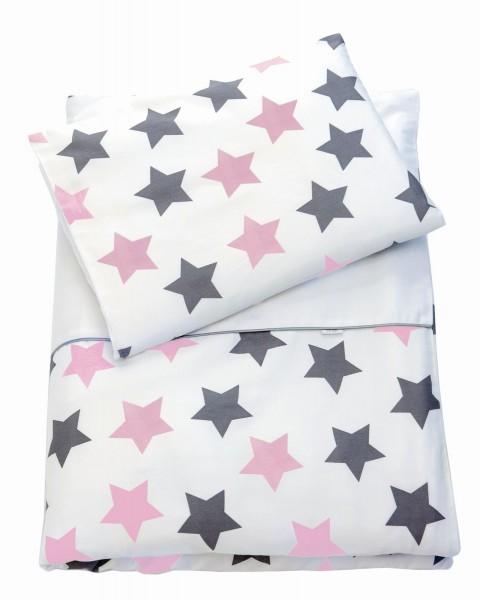 ZEWI bébé-jou Bettwäsche-rose Stars